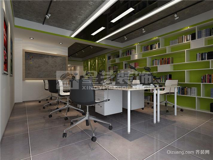百捷办公室现代简约装修效果图实景图