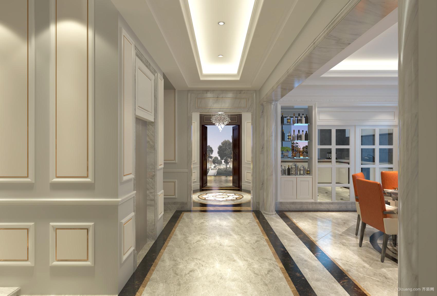 星湖名郡石溪雅筑9栋别墅欧式风格装修效果图实景图