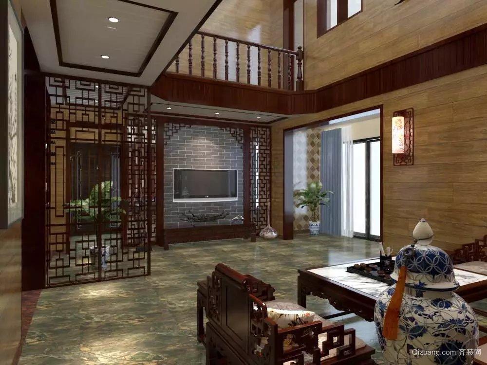 迎龙苑B区中式风格装修效果图实景图