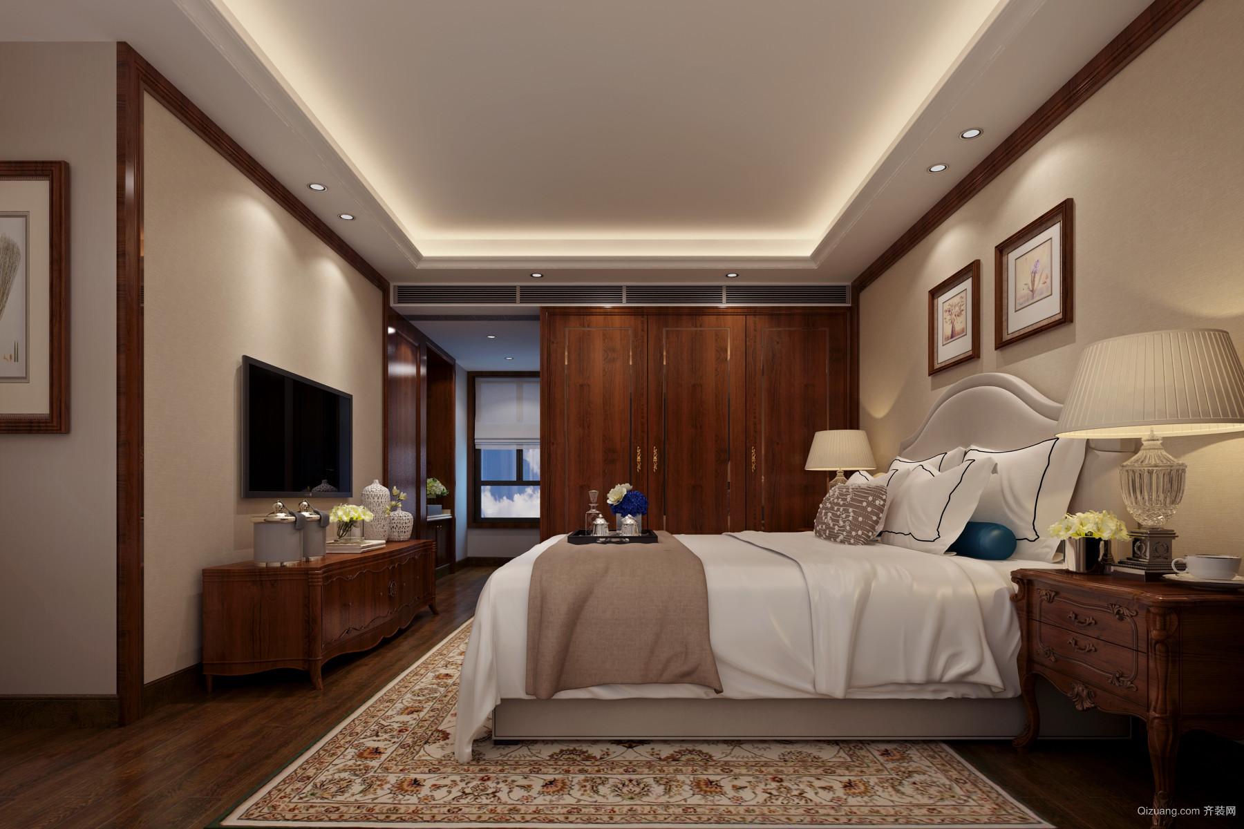 林隐天下54栋401叠院中式风格装修效果图实景图