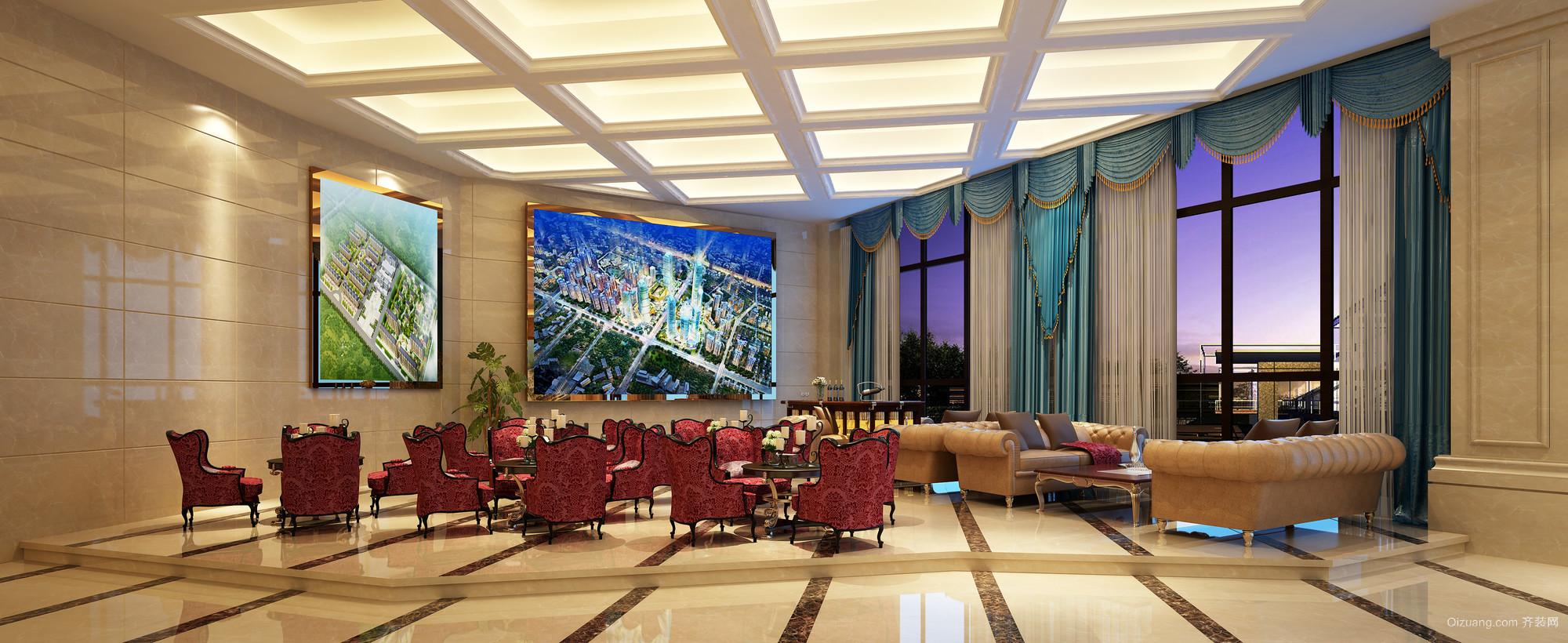 天津售楼部欧式风格装修效果图实景图