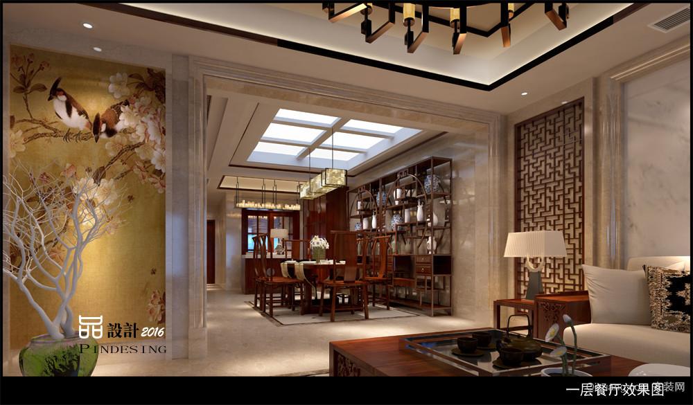 长兴秀江南别墅中式风格装修效果图实景图