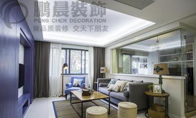 芜湖白金湾100平美式风格装修效果图 装修设计案例