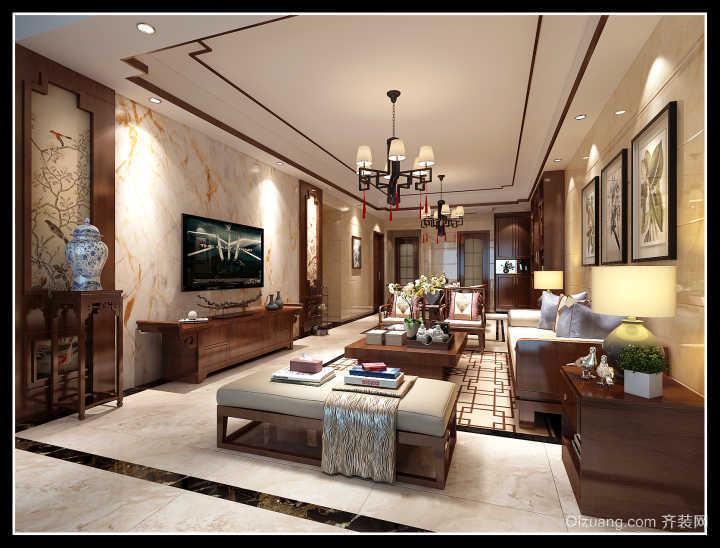亿家·龙景名都中式风格装修效果图实景图