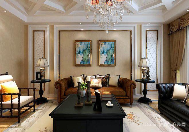高新区泰和上筑美式风格装修效果图实景图