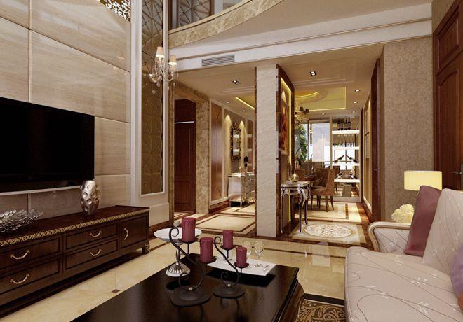 新富公寓欧式风格装修效果图实景图