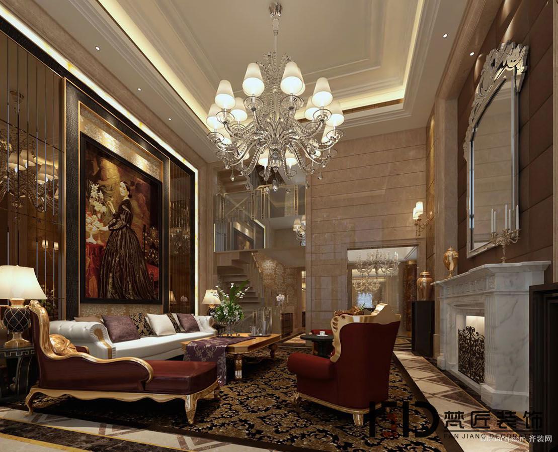 万科城别墅 欧式风格装修效果图实景图