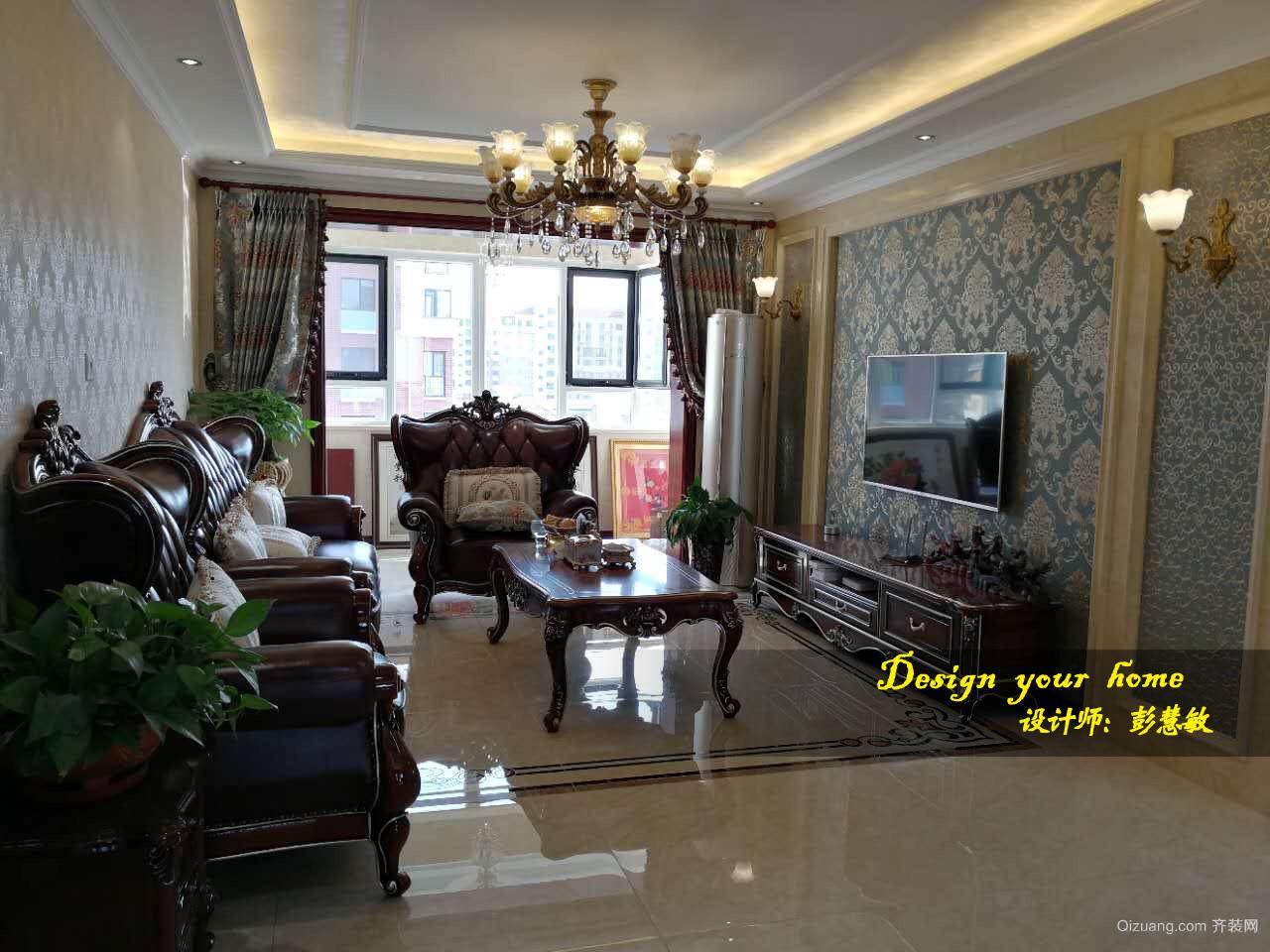 上海滩花园美式风格装修效果图实景图
