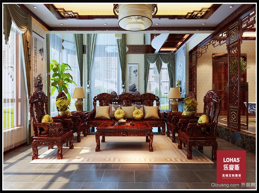 江南新城中式风格装修效果图实景图