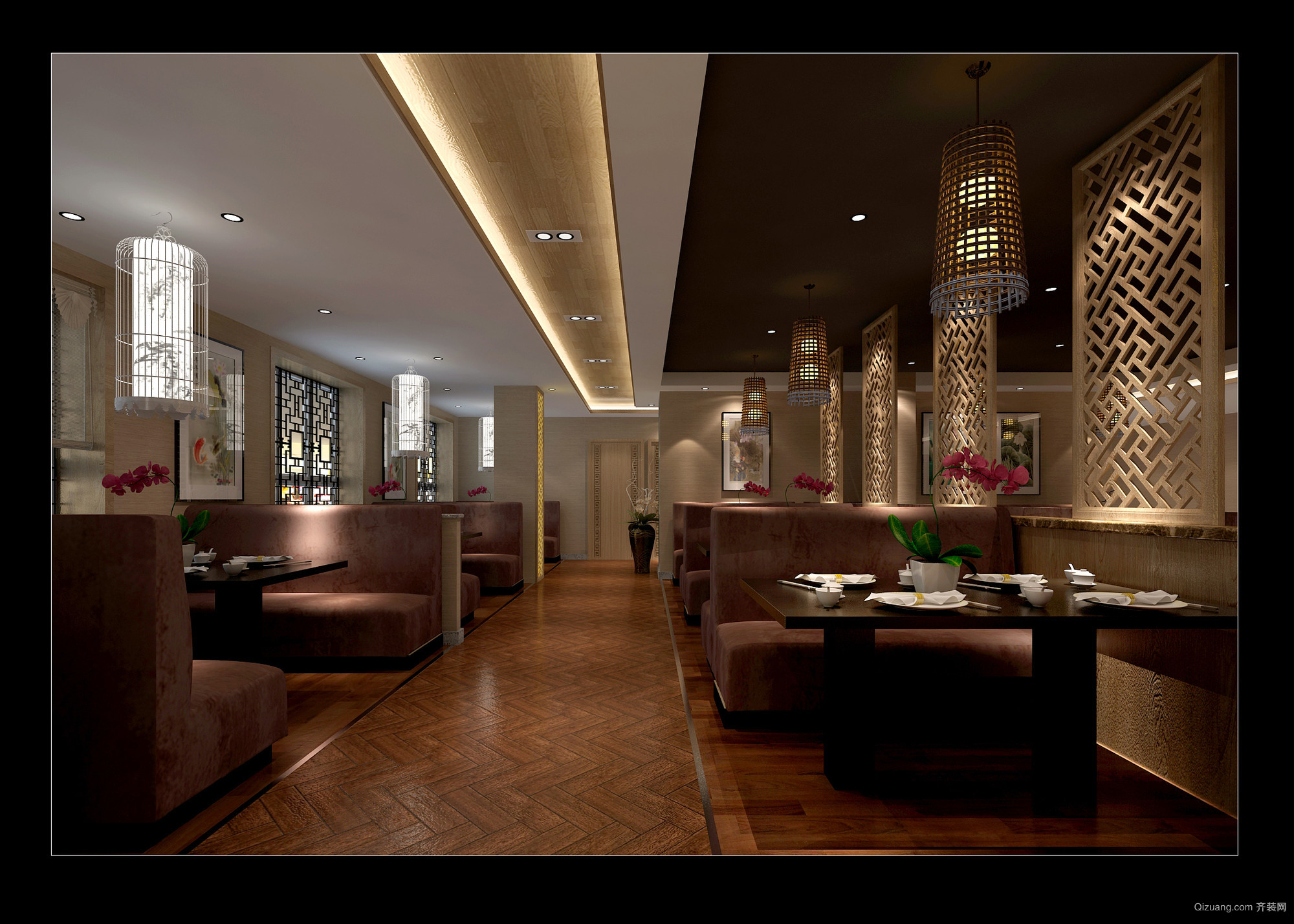 紫薇风尚商铺中式风格装修效果图实景图