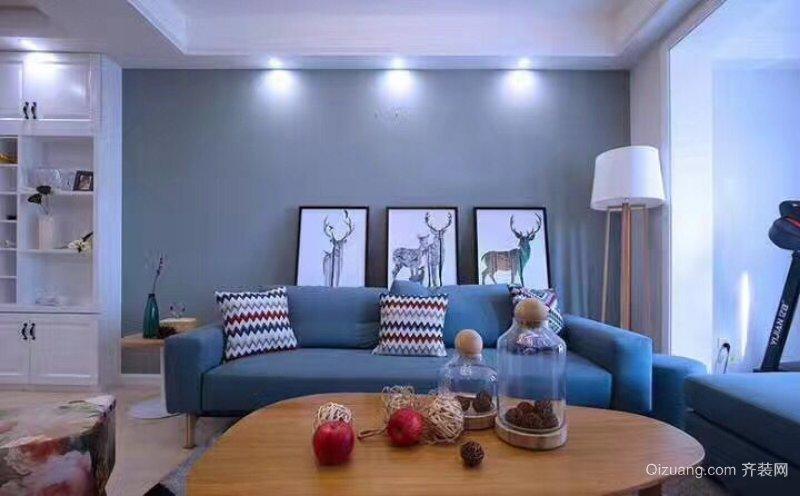 紫金城地中海风格装修效果图实景图