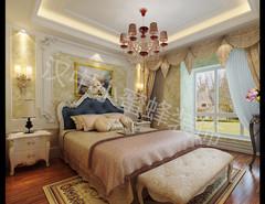 汉水名城阅府洋房古典风格装修案例
