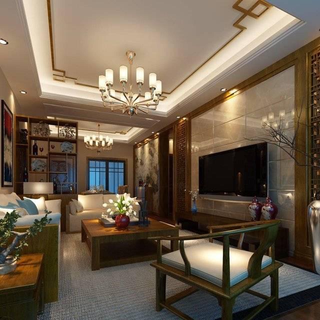 中房·浔阳城120㎡普通户型中式风格装修案例