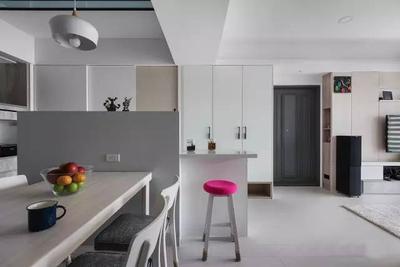 上饶现代简约100平三室改五室装修设计案例