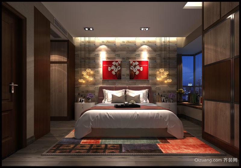 荣盛中央广场中式风格装修效果图实景图