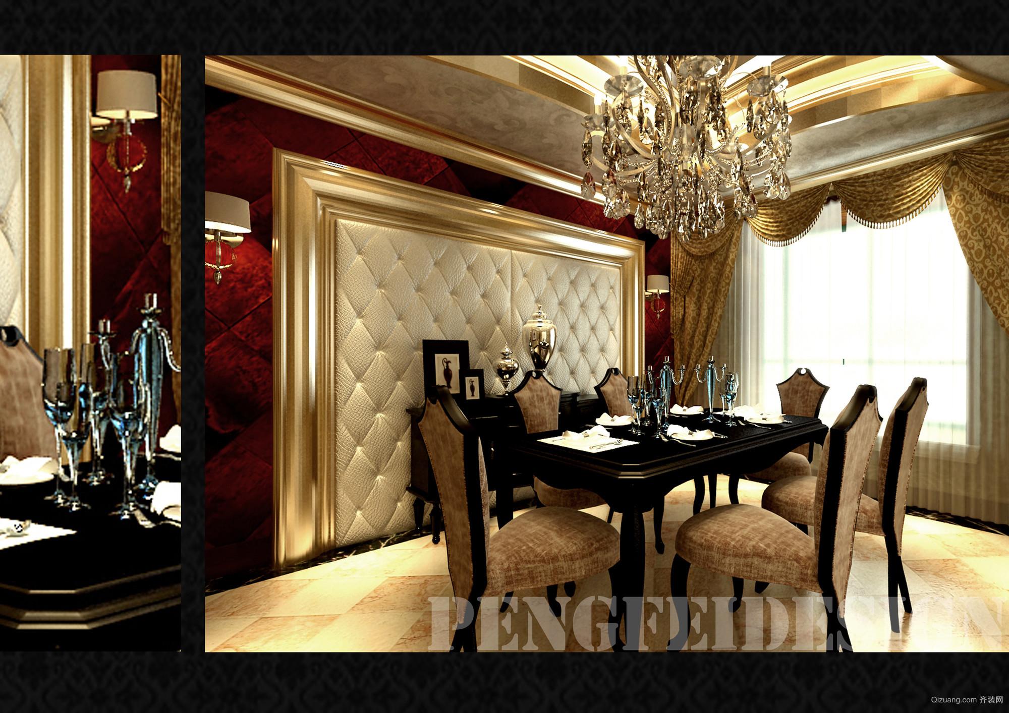 成都天鹅堡别墅欧式风格装修效果图实景图