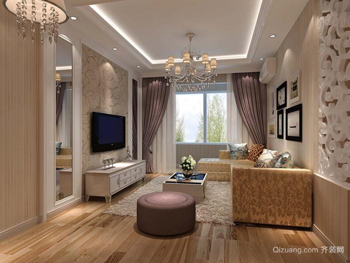 华城国际欧式风格装修效果图实景图