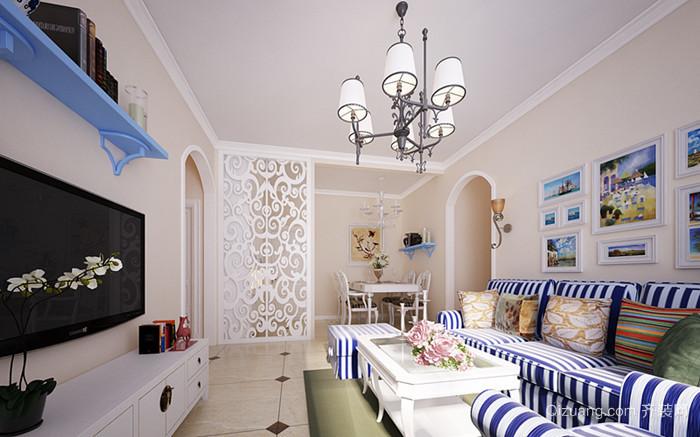 地中海样板房地中海风格装修效果图实景图