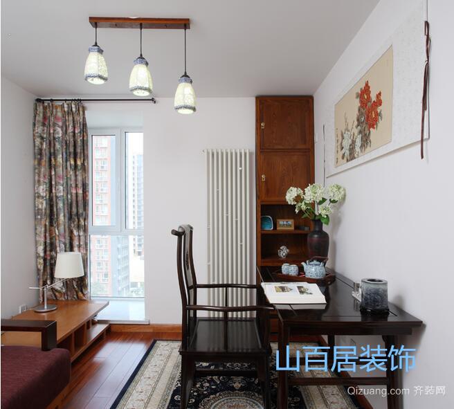 奥林清华东区中式风格装修效果图实景图
