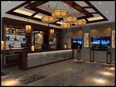 南充中式餐厅装修设计案例
