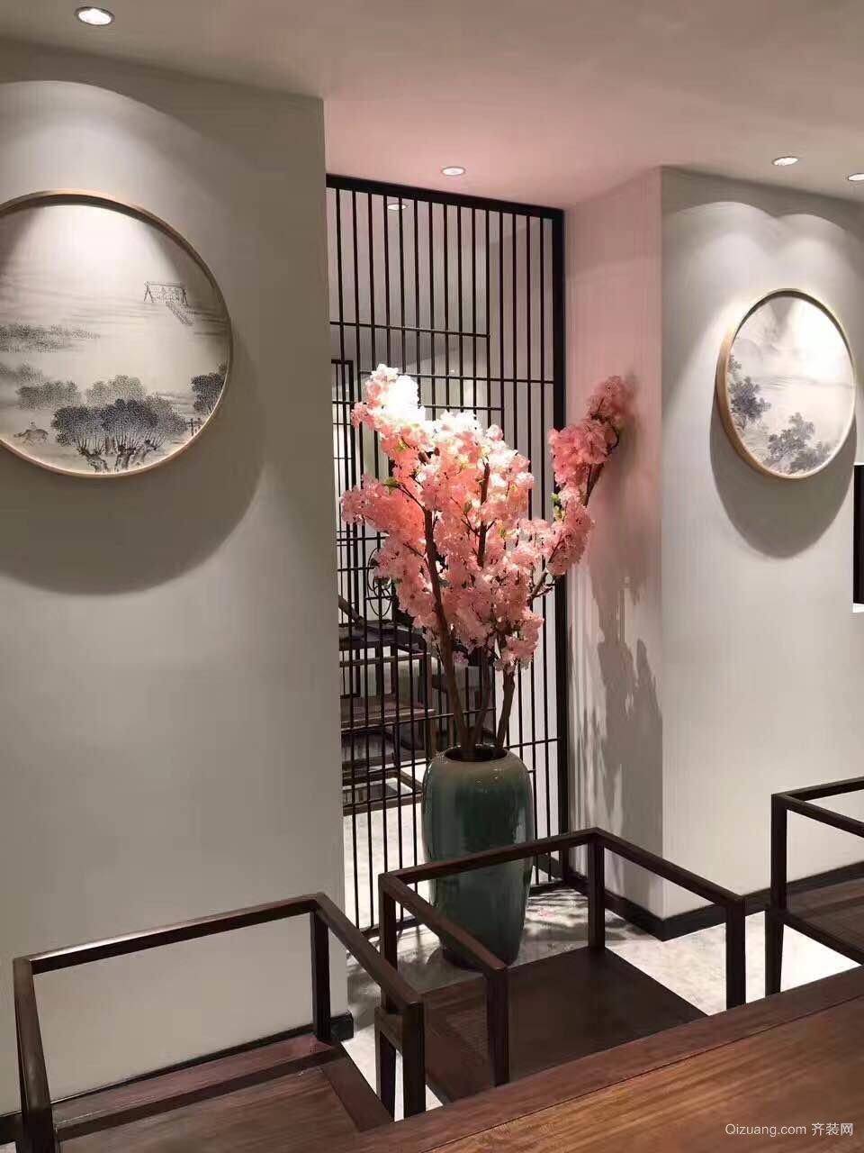 嘉陵江小区四楼中式风格装修效果图实景图
