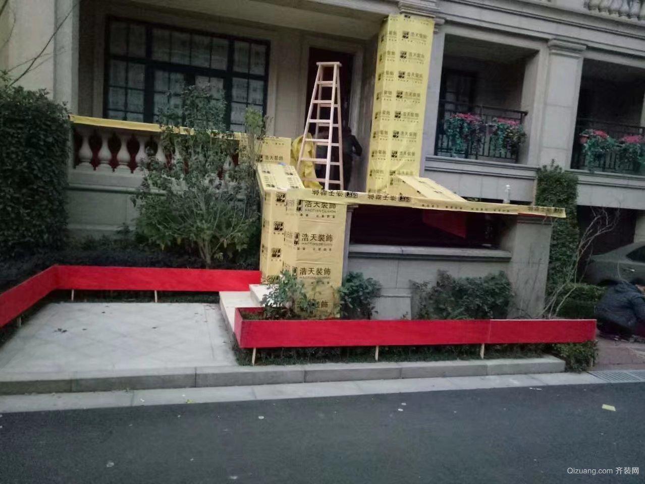绿城惠园中式风格装修效果图实景图