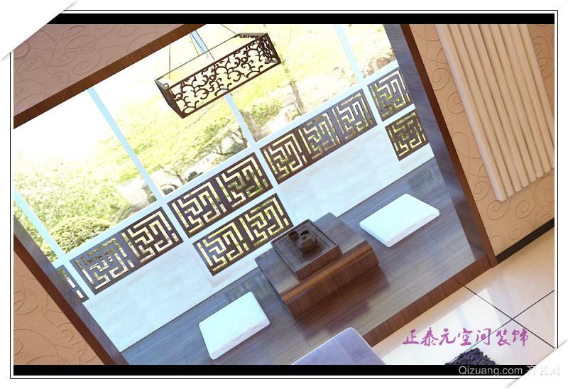 浐灞半岛中式风格装修效果图实景图