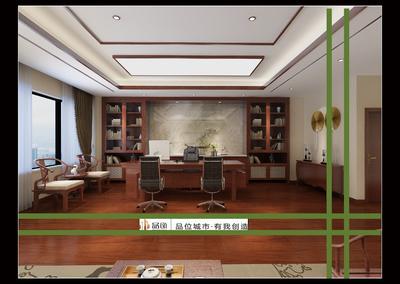 张家港办公楼装修设计案例