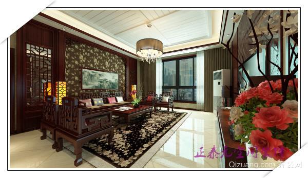 周至县李先生雅居中式风格装修效果图实景图