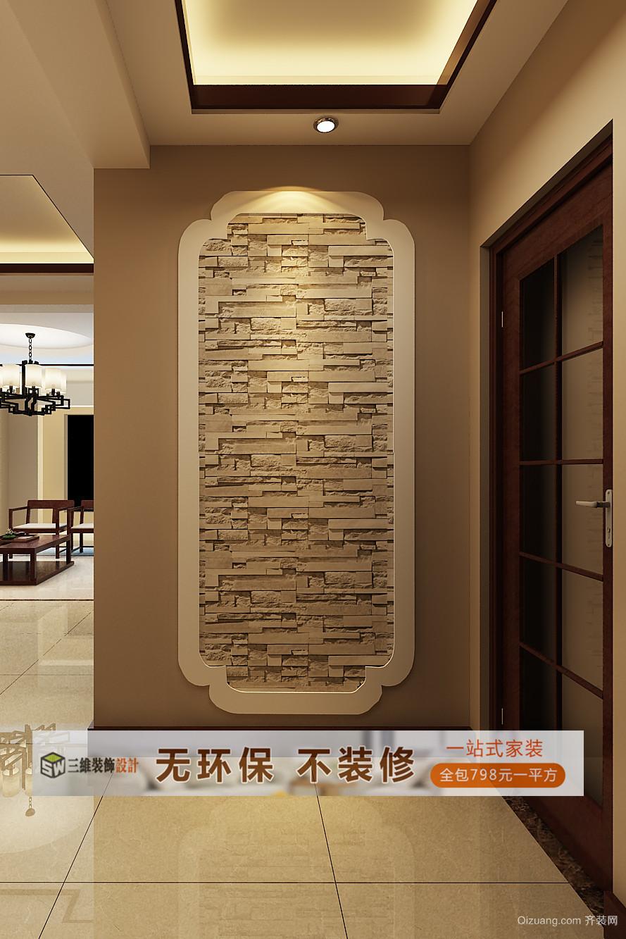 奥体华城17栋2402中式风格装修效果图实景图