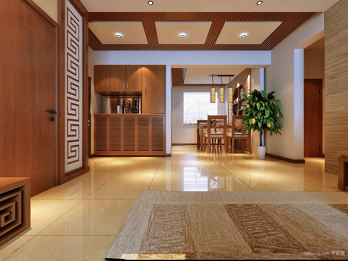 银泰城中式风格装修效果图实景图