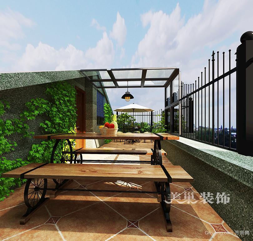 龙湖花苑美式风格装修效果图实景图