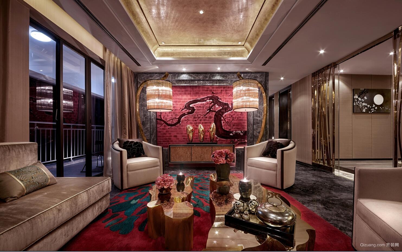 江滨小区中式风格装修效果图实景图