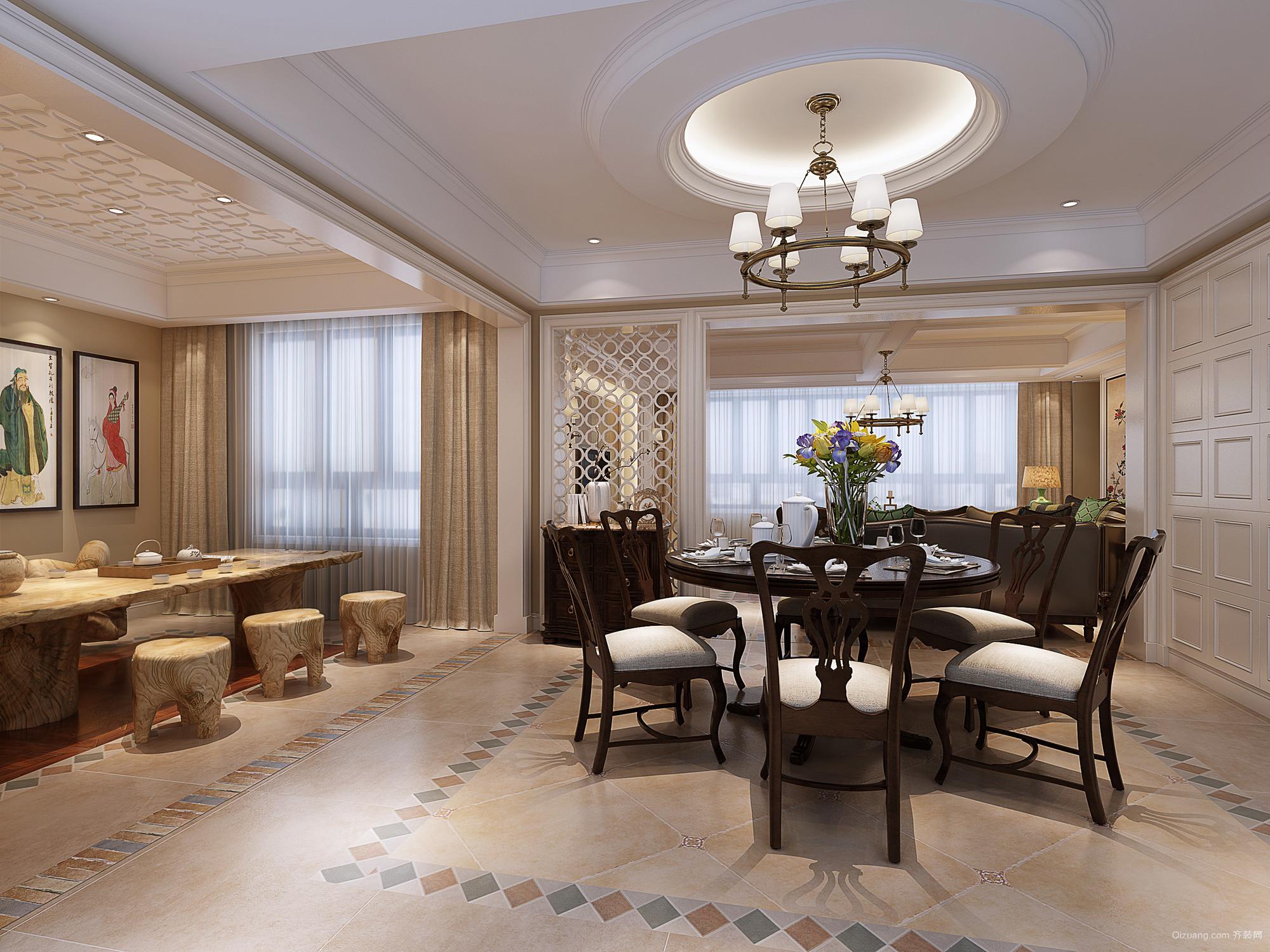 仁和家园美式风格装修效果图实景图