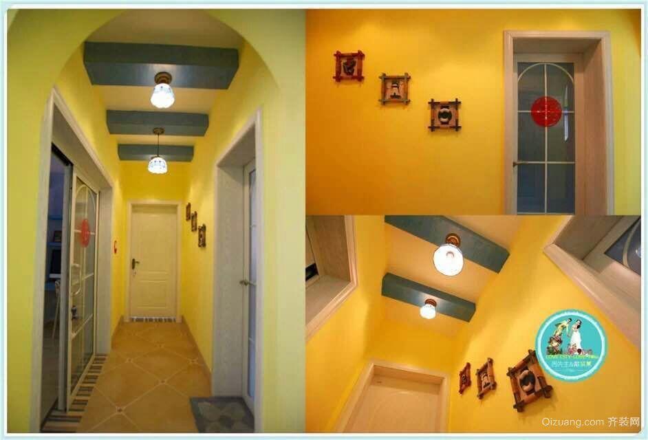 和平二道街100号小区地中海风格装修效果图实景图