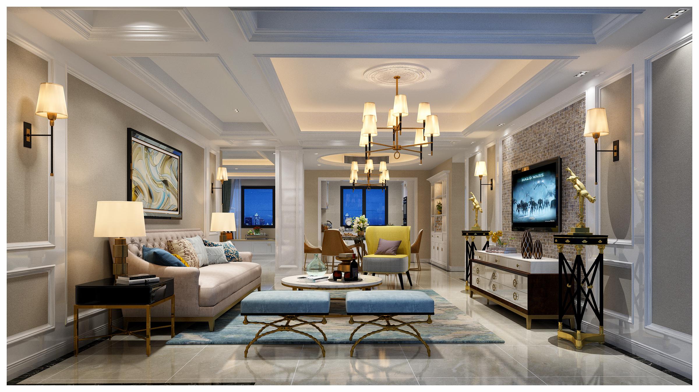 国际公寓二区装修案例