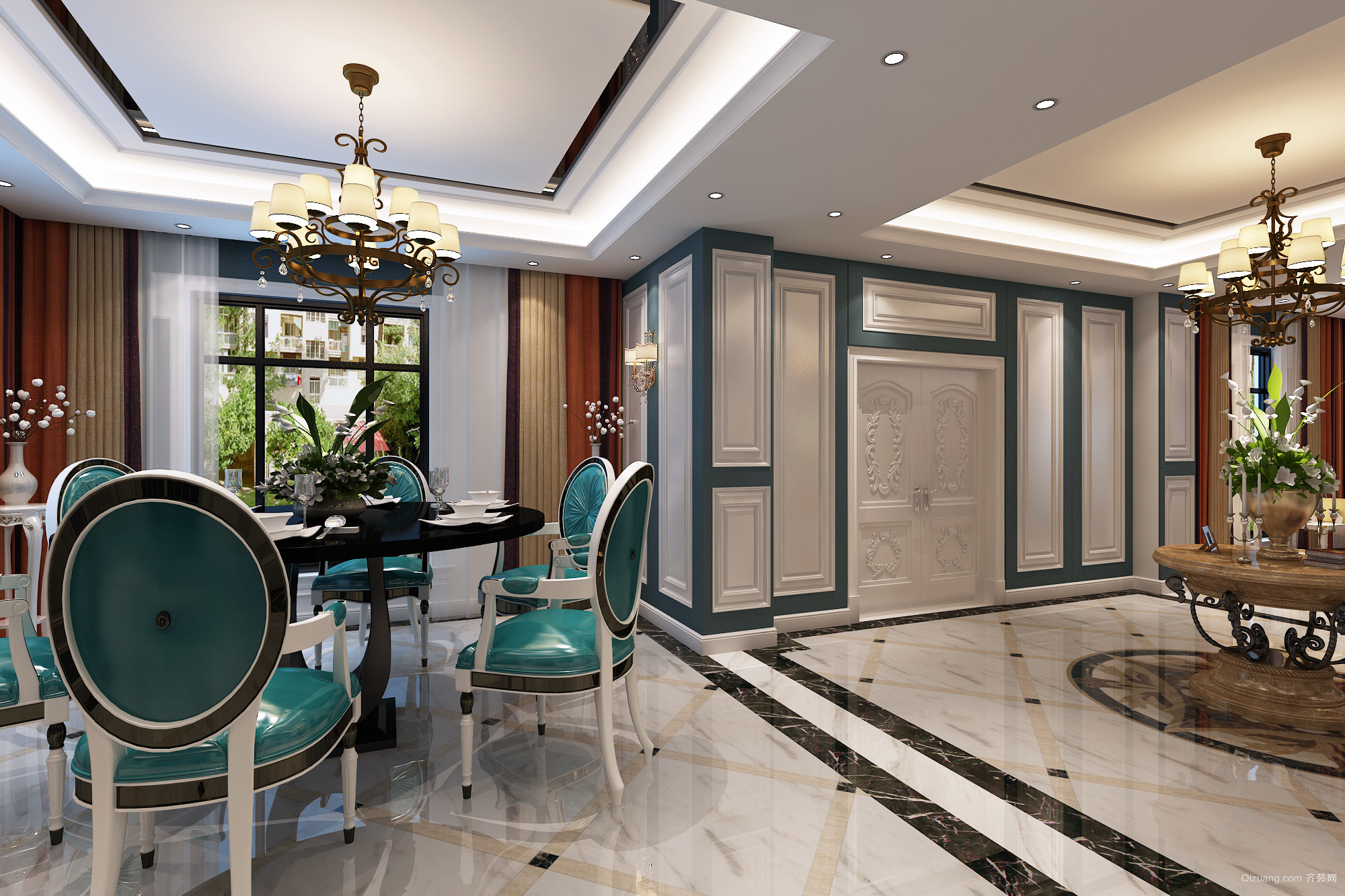 感通别墅欧式风格装修效果图实景图
