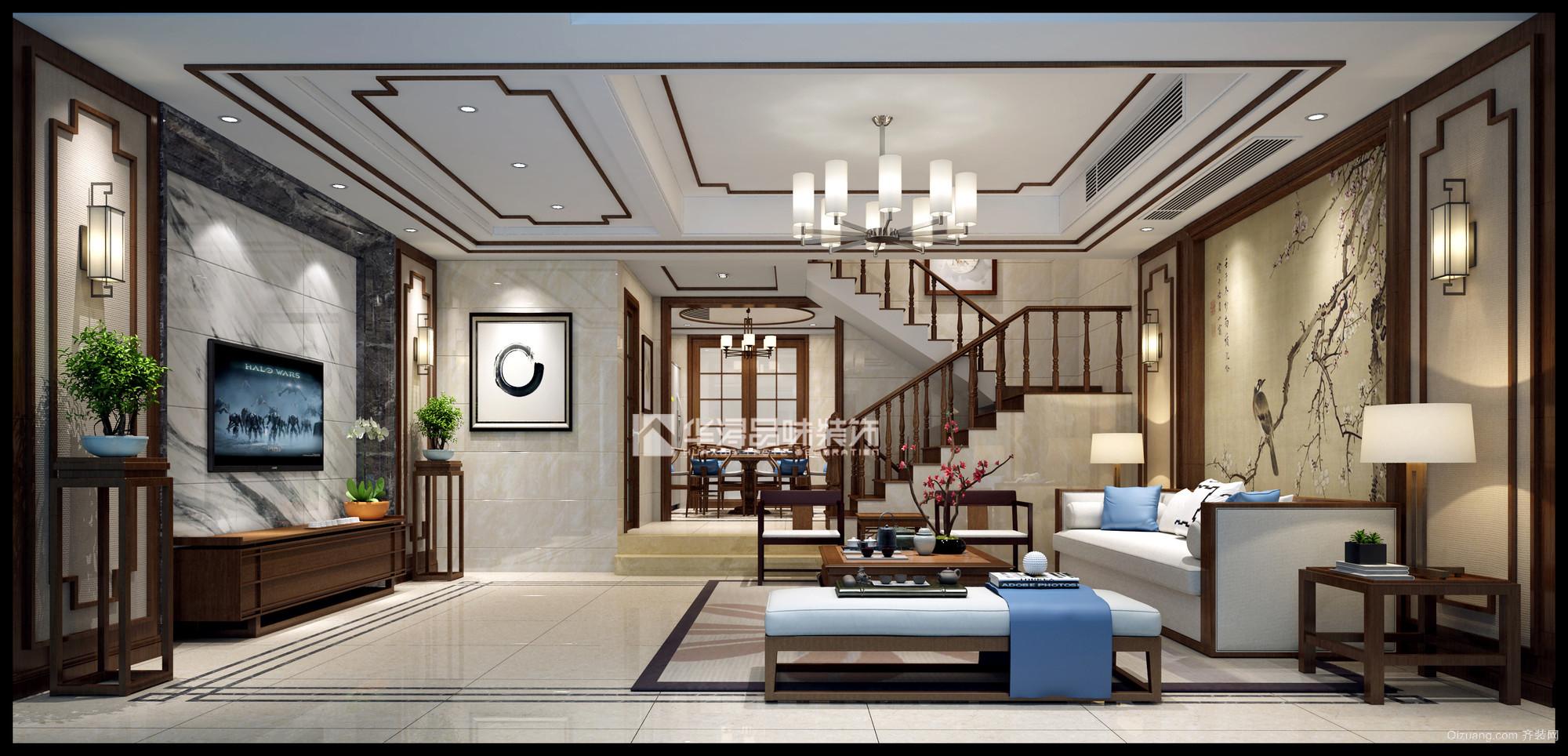 江山名洲中式风格装修效果图实景图