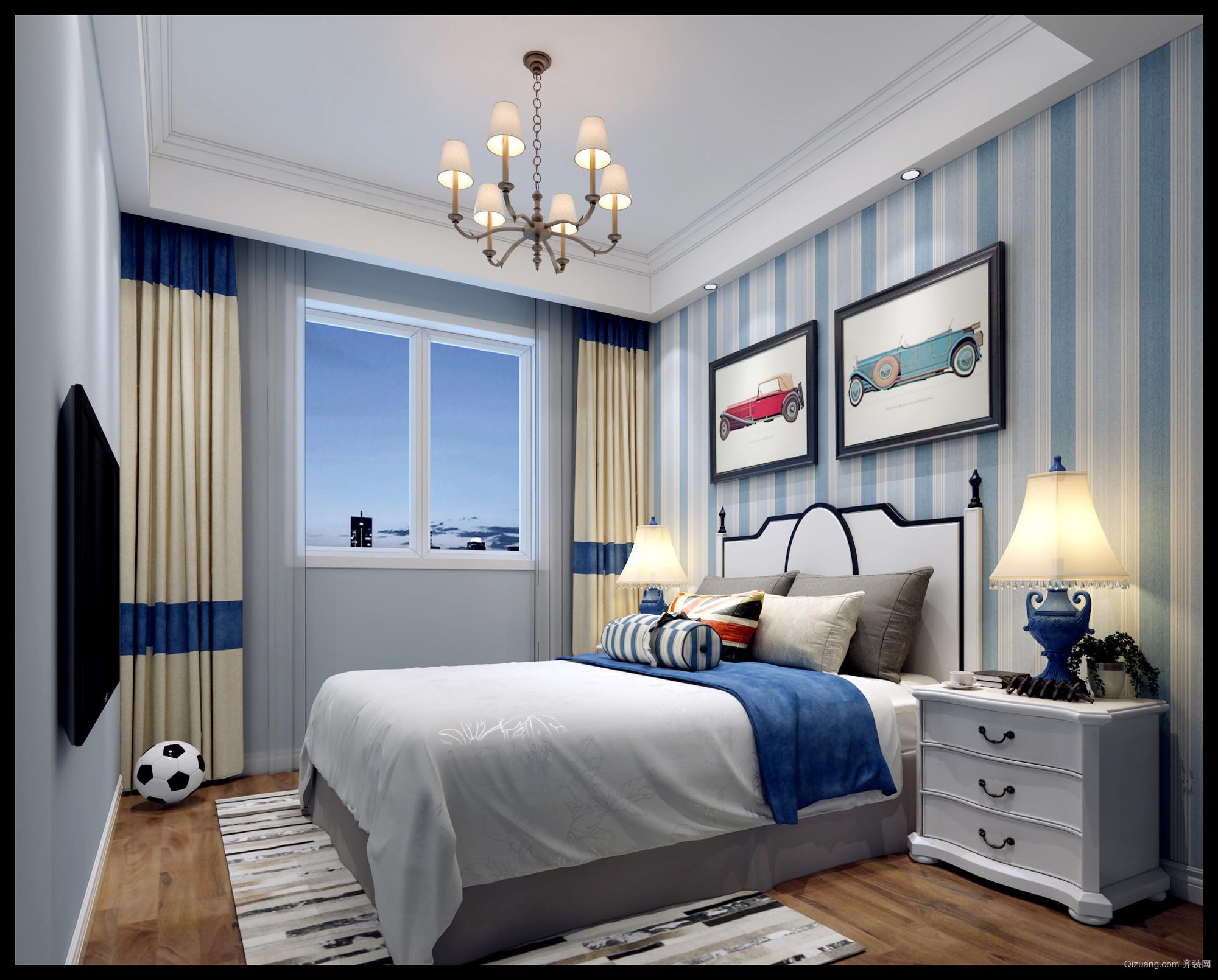 孔雀城美式风格装修效果图实景图