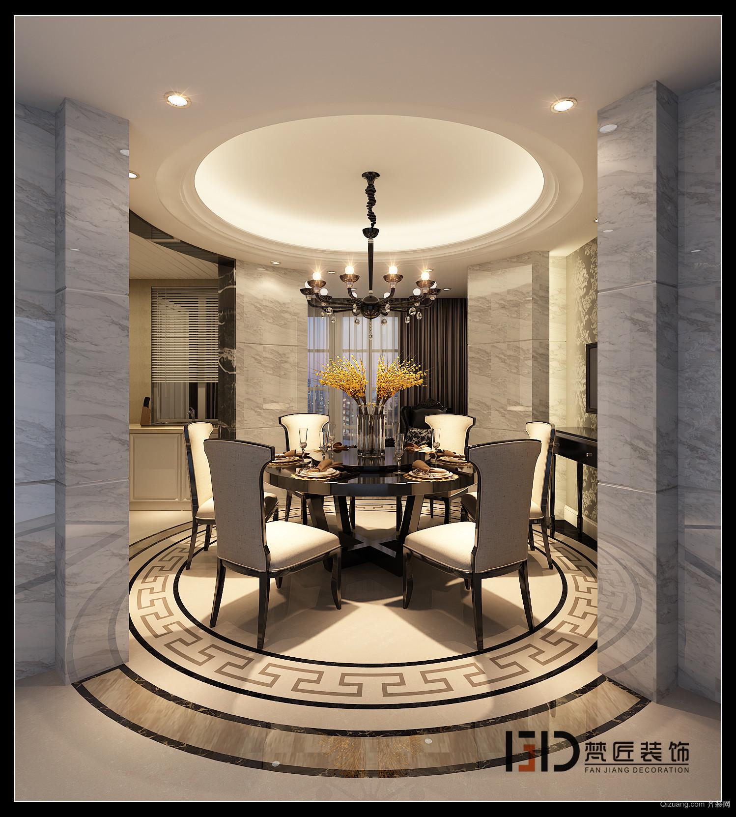 都汇豪庭欧式风格装修效果图实景图