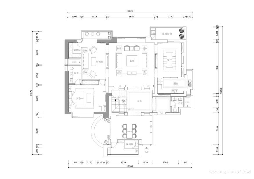 皇家御城中式风格装修效果图实景图