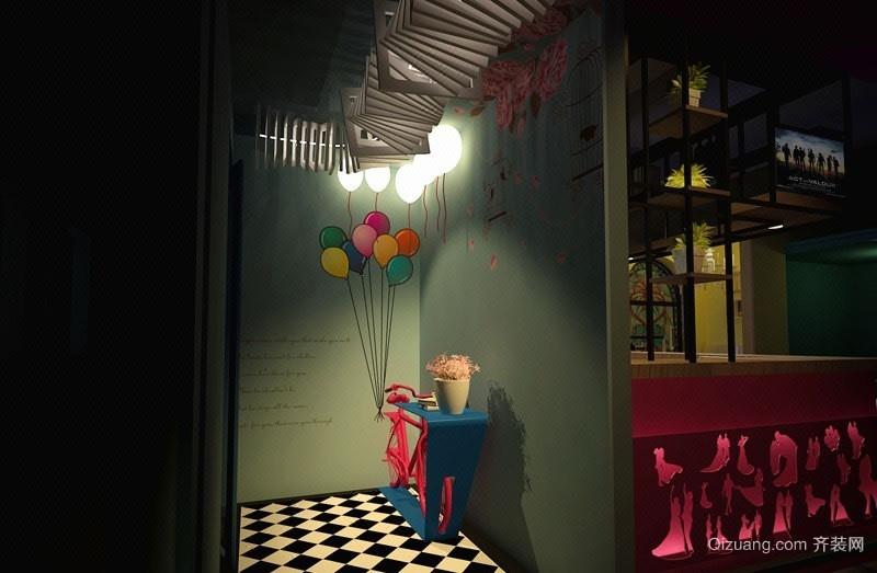 坪山花园城商铺混搭风格装修效果图实景图
