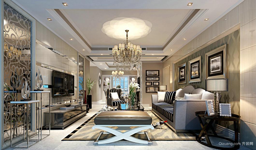 联创富丽家园3栋欧式风格装修效果图实景图
