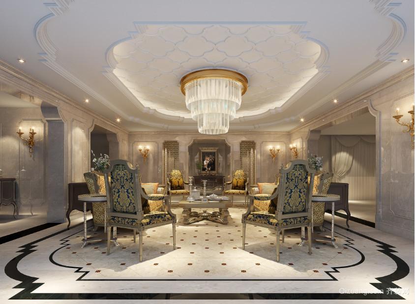 泉州奥林匹克别墅欧式风格装修效果图实景图