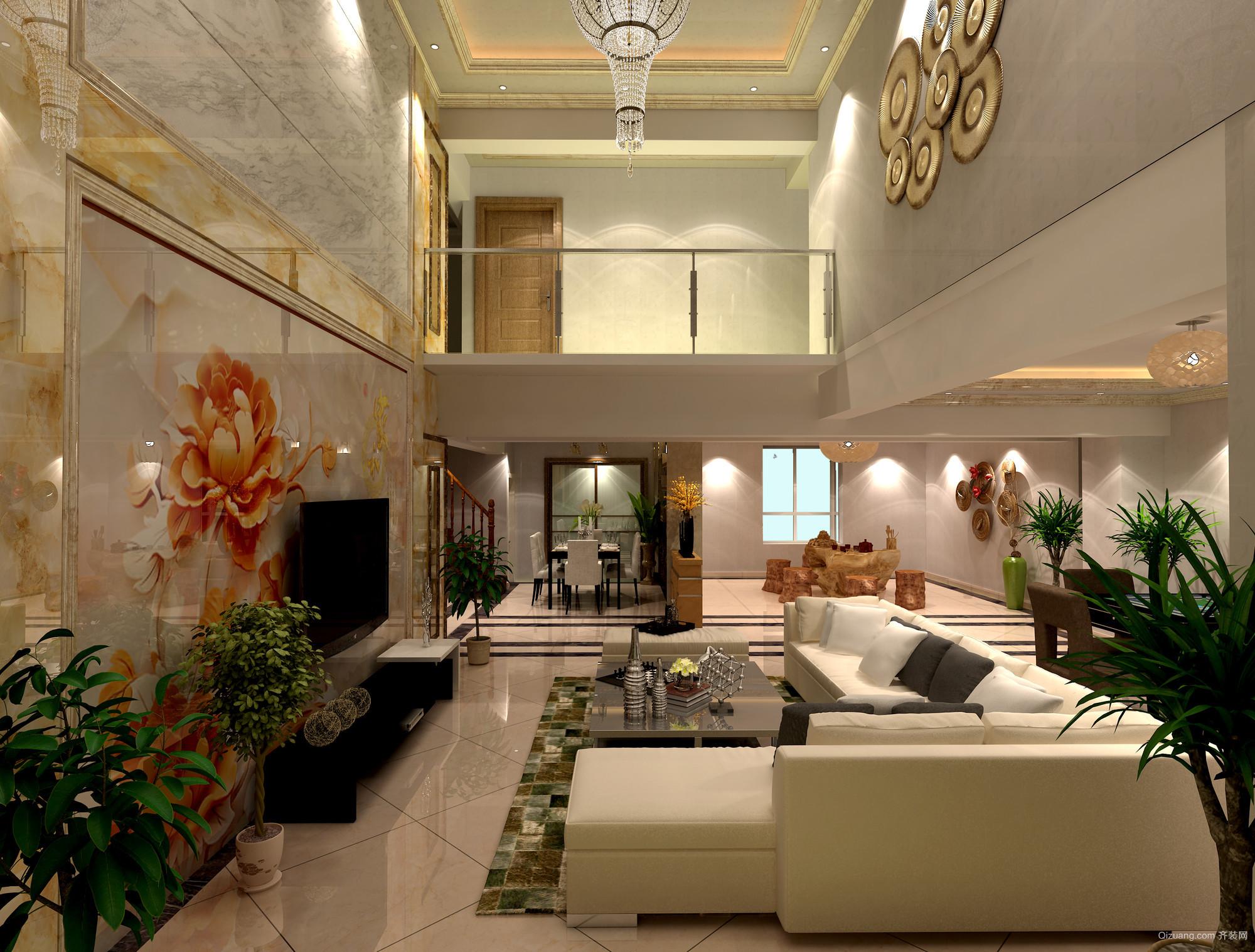 财富中心混搭风格装修效果图实景图