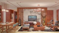 石景苑两居室完美新中式