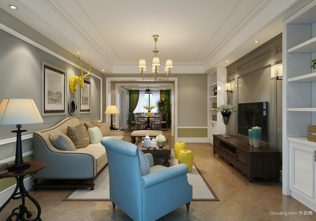 联创富丽家园混搭风格装修效果图实景图
