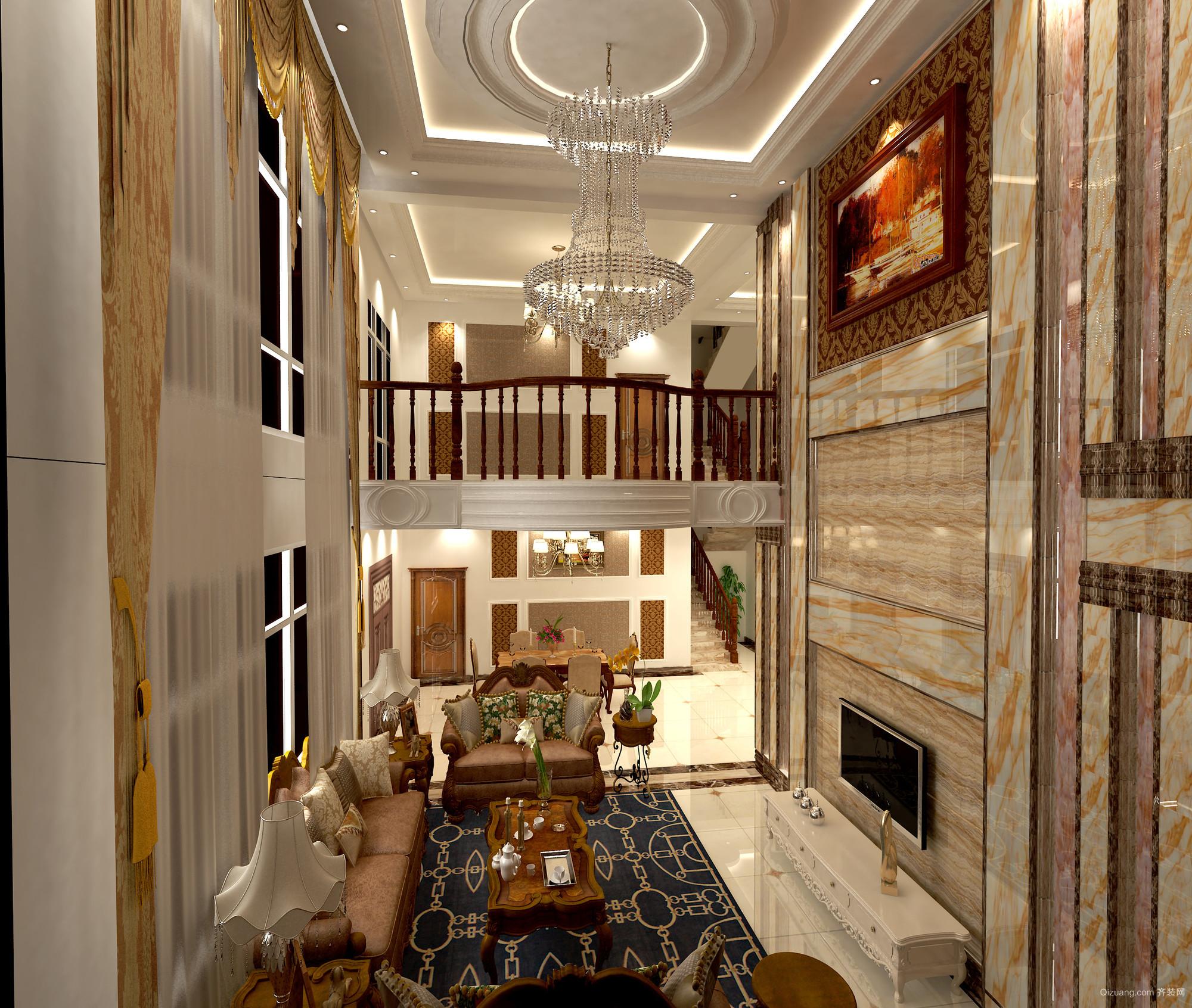 文化私人别墅古典风格装修效果图实景图