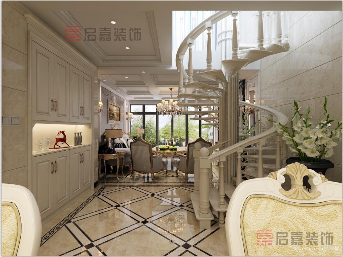 中山城复式楼欧式风格装修效果图实景图