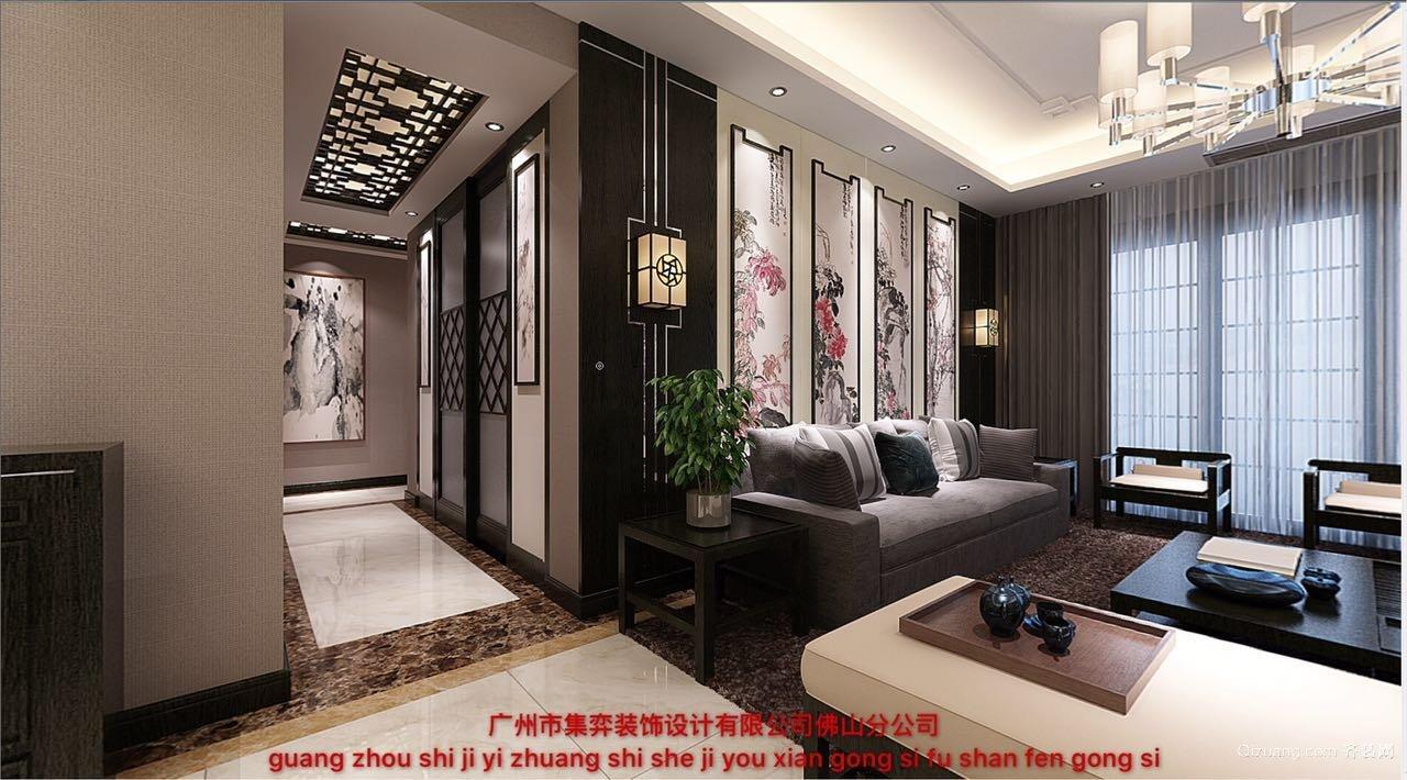 中信山语湖中式风格装修效果图实景图